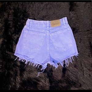 Levis high waisted shorts size 00 purple